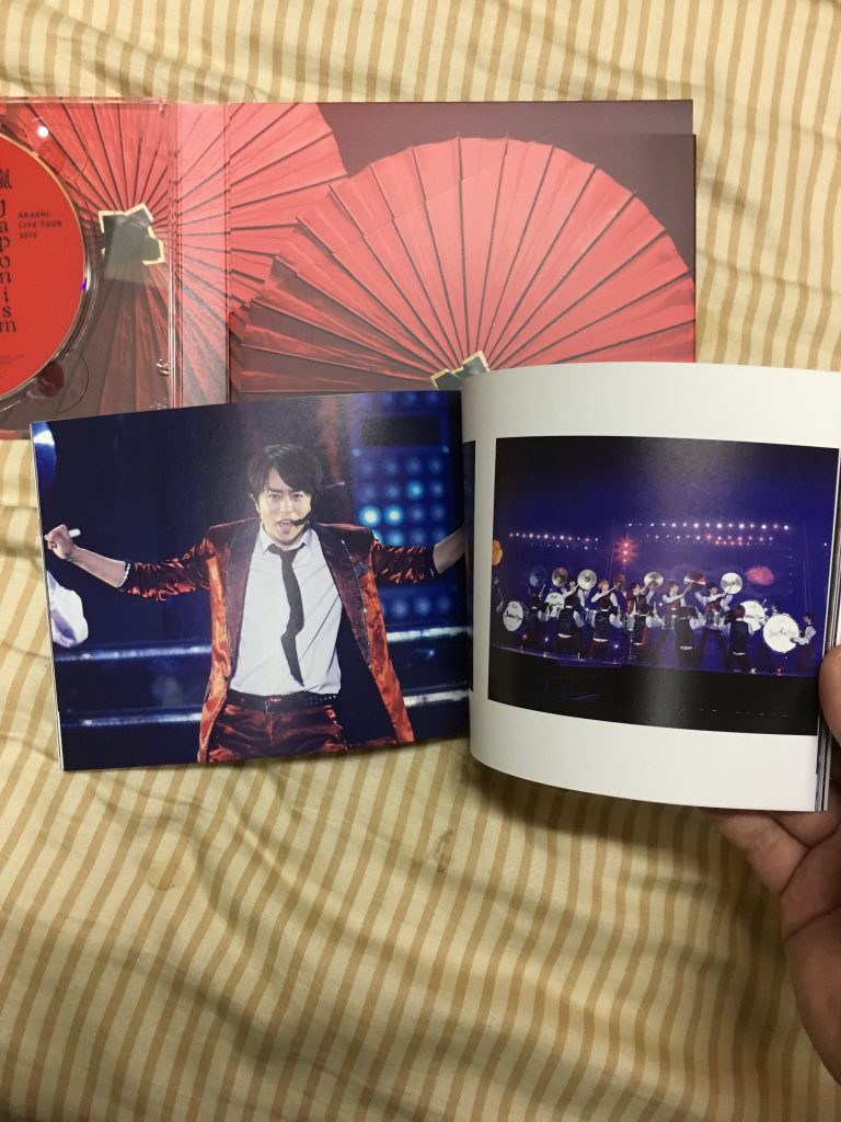 Inside the photo booklet
