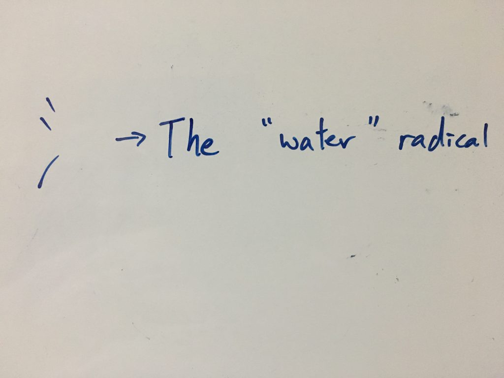 "The ""water"" radical"
